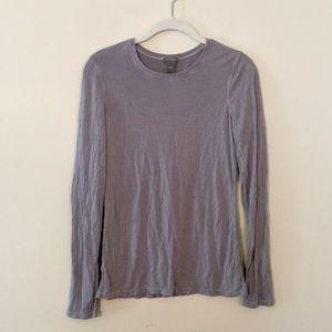 Ann Taylor Light Mauve Long Sleeve Tee Shirt